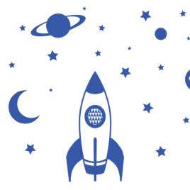 Űrhajós falmatrica | több színben