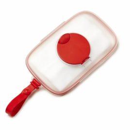 Nedves törlőkendőtartó babakocsihoz – piros