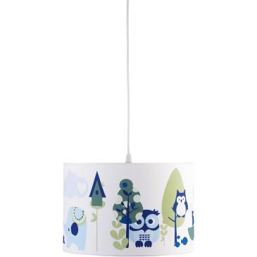 Gyerek mennyezeti lámpa – kék bagoly