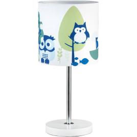 Gyerek asztali lámpa – kék bagoly