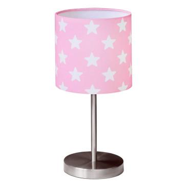 Gyerek asztali lámpa – rózsaszín csillag