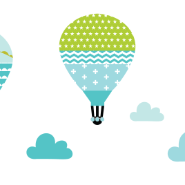 Ballonok falmatrica – pisztácia
