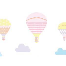 Ballonok falmatrica – fagyi színek