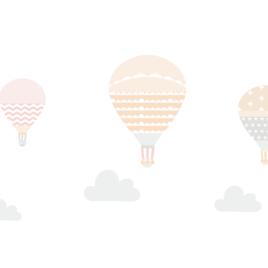 Ballonok falmatrica – bézs