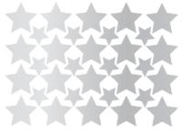 ezüst csillag falmatrica