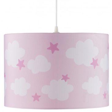 Gyerek mennyezeti lámpa – rózsaszín felhő