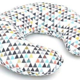 Szoptatós párna – Színes háromszögek