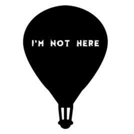 Krétával írható falmatrica – ballon