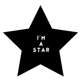 Krétával írható falmatrica – csillag